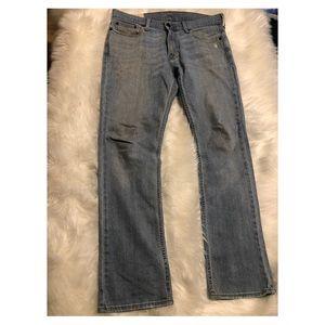Hollister men slim straight jeans 33x32